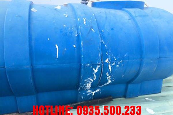 hình ảnh bồn nước nhựa sau khi được hàn xong