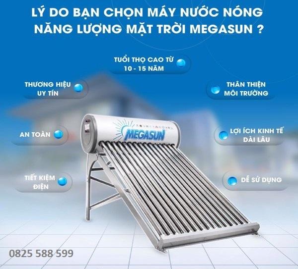 Máy nước nóng năng lượng mặt trời Megasun 150 lít KAE